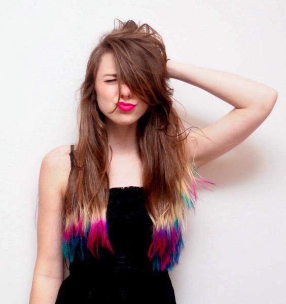 10 Dip-Dyed Hair