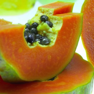 8A simple bath soap with papaya extracts