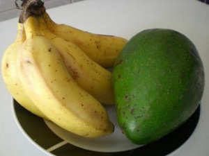 10. Banana and Avocado
