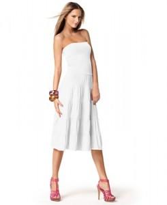 1.Convertible, Tiered Maxi Skirt-Dress