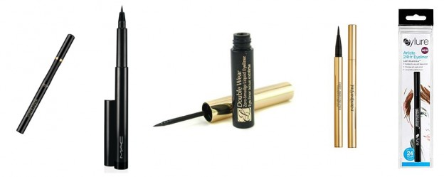 10 Always start with a very thin brush in case of a liquid liner or a thin tip for the eye pencil.