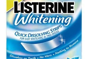 10 Listerine Whitening Quick Dissolving Strips