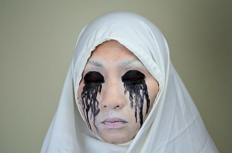 10 diy scary and crazy halloween makeup ideas - Scary Faces For Halloween With Makeup
