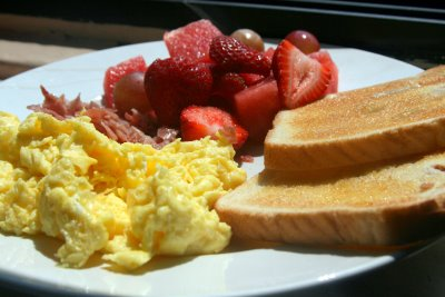 Eat a big, balanced breakfast
