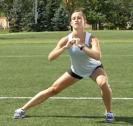 1Lateral squat exercise