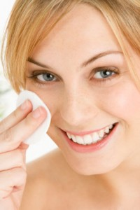Woman Removing Make Up With Pad