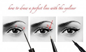1Apply eyeliner and mascara
