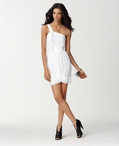 2.One-Shoulder Ruffle-Front Dress by BCBGeneration