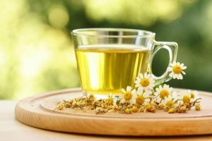 5. Highlighting with the use of chamomile tea