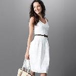 5.Jones Wear® Drop-Waist Eyelet Sundress with Pockets