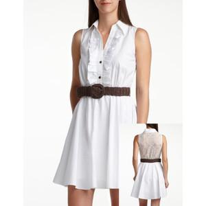 8.Crochet-Back Shirt Dress