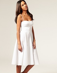 9.Summer Dress with Midi Skirt (from ASOS)